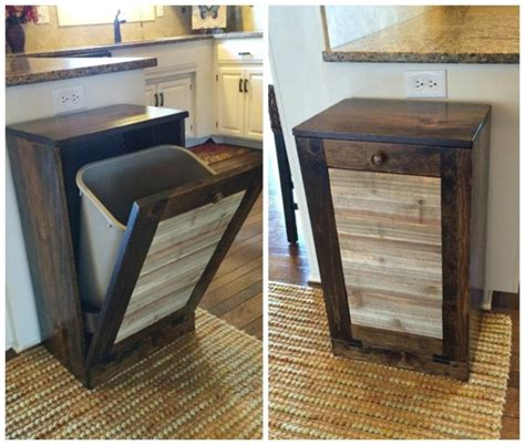 diy pallet trash can cabinet the best diy wood pallet ideas kitchen fun with my 3 sons
