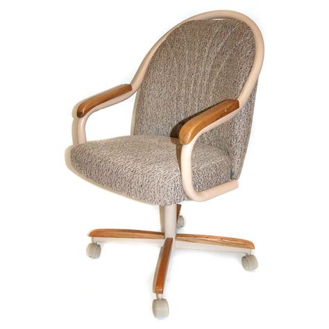 Chairs With Casters Dining Casual Dining Cushion Swivel And Tilt Rolling Caster Chair Ebay