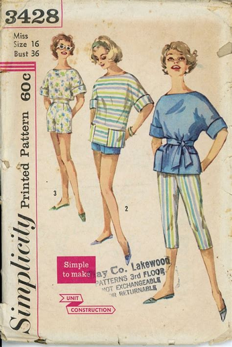 sewing seperates on pinterest free sewing womens summer separates pattern simplicity 3428 misses 1960s
