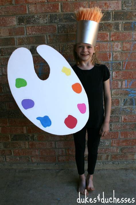 artist costume pattern a homemade halloween costume diy paint brush costume