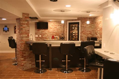 brick wall basement rooms