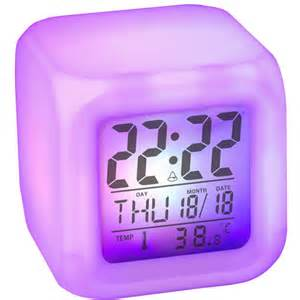 color changing alarm clock glowing lcd color change digital alarm clock hollyta