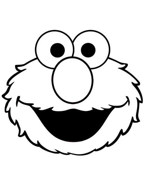 Cute Elmo Face Coloring Page H M Coloring Pages Elmo Coloring Pages