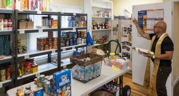 St Joseph Food Pantry by Future Eagle Scout Leads Volunteers In Renovating Winter