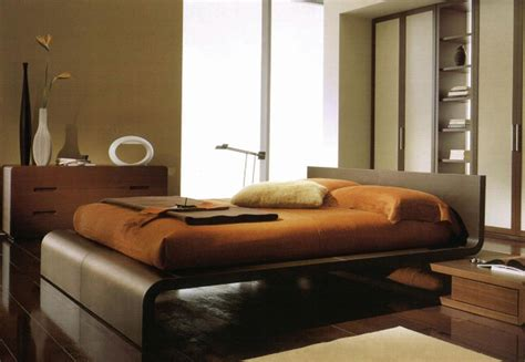 Contemporary Walnut Bedroom Furniture | walnut bedroom set flow modern platform bed