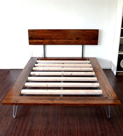 platform bed and headboard size on hairpin legs sale item wood platform bed and platform