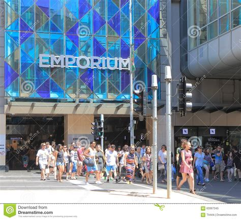 christmas shopping melbourne australia editorial image