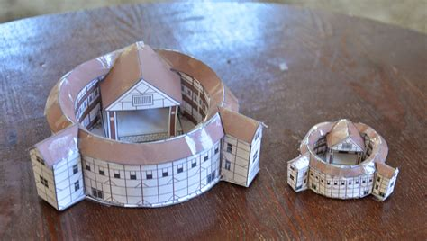 How To Make Paper Models - a school of fish globe theater paper models
