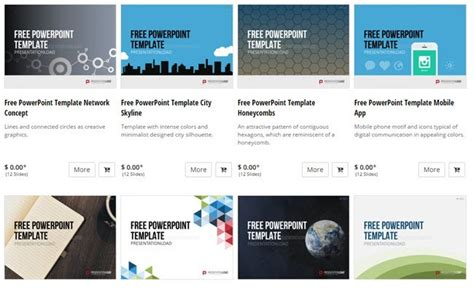 10 Great Websites For Free Powerpoint Templates Website Presentation Template