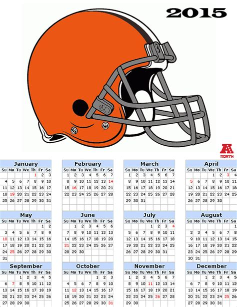 cleveland browns schedule printable 2015