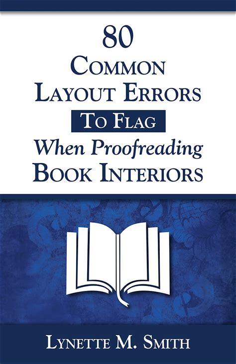 book layout errors layout proofreading handbook