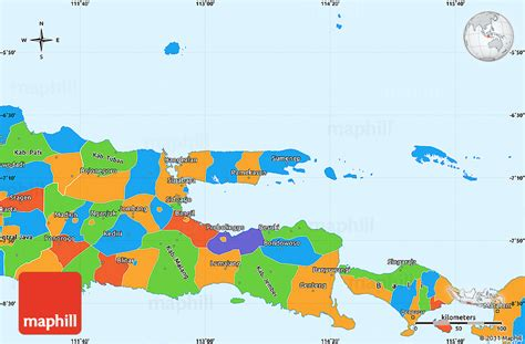 java layout east west political simple map of east java