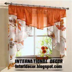 Fall Kitchen Curtains Small Curtains Models For Kitchens In Different Colors