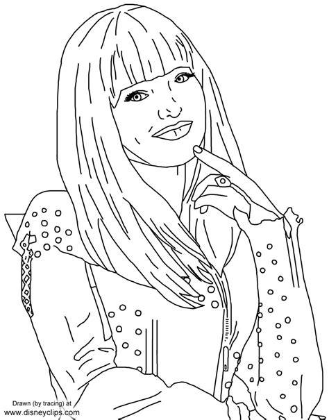 descendants coloring pages of mal disney s descendants 2 printable coloring pages disney