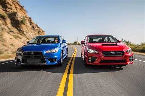 subaru evo the end of a rivalry mitsubishi lancer evolution mr and