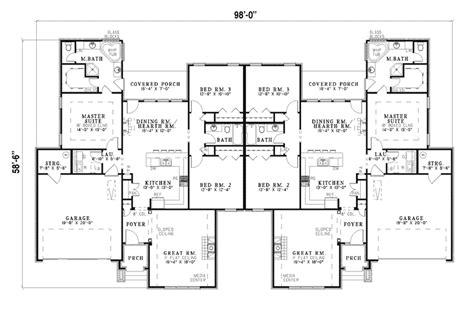 6 plex bigger unit 3 bar 72x74 apartment house plan multi family house plans designs 6 plex bigger unit 3