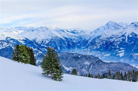 winter stock photo colourbox winter landscape winter background mountains at winter