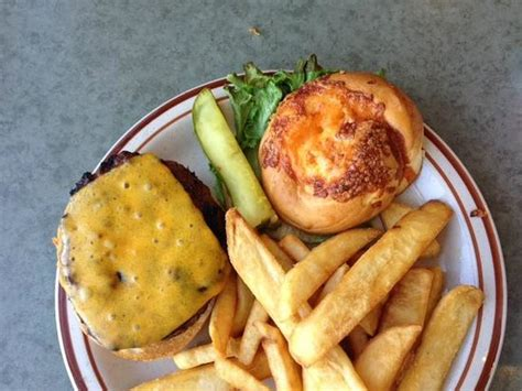 portage pancake house cheesy burger on a cheese bun the original pancake house 1445 portage ave winnipeg