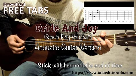 pride  joy stevie ray vaughan acoustic guitar takashi terada youtube