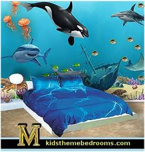 Shark Bathroom Decor Best 25 Ocean Mural Ideas On Pinterest Teal Bathroom
