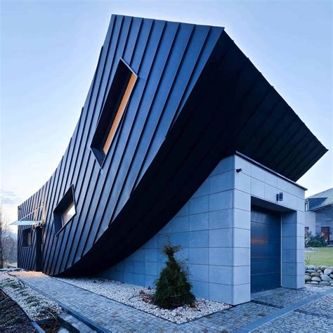 small home creates large statement  vertically curved