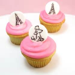 Paris cupcake toppers the decorated cookie
