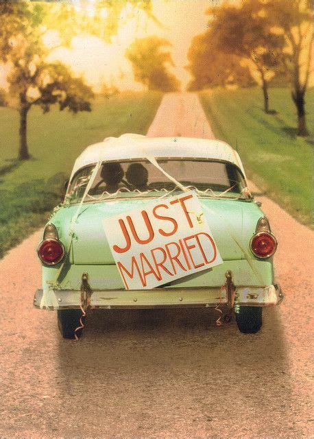 Postkarte Auto Just Married by Just Married Hochzeitsgeschenke Geschenk Hochzeit Und