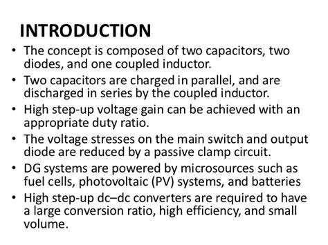 capacitor and inductor conclusion a novel high step up dc dc converter for a microgrid system
