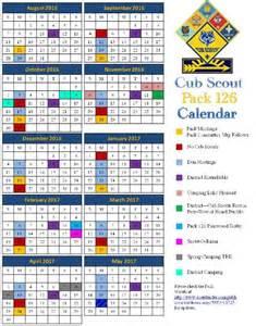 boy scout calendar template calendar cub scout pack 126 peoria arizona