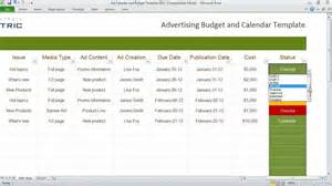 advertising calendar template advertising calendar and budget template organize your