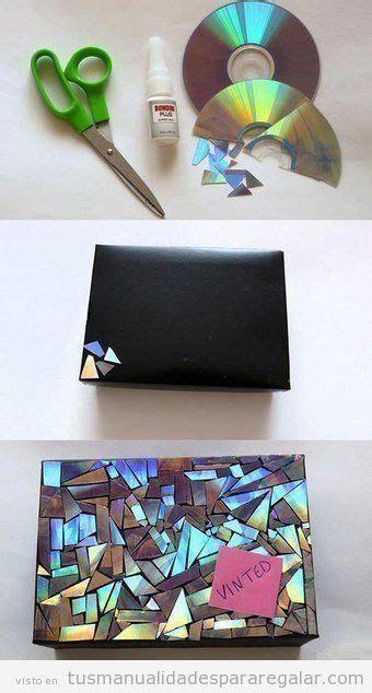 manualidades hechas con material reciclable paso a paso 3 manualidades para regalar hechas con cds reciclados