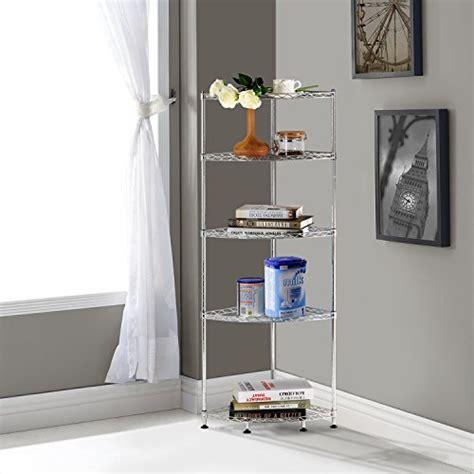 lifewit corner shelf 5 tiers adjustable metal storage wire
