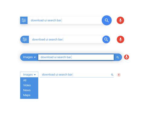search bar for android search bar ui design for sketch adobe xd illustrator and eps freebiesui