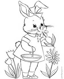 bunny coloring pages kids coloring town