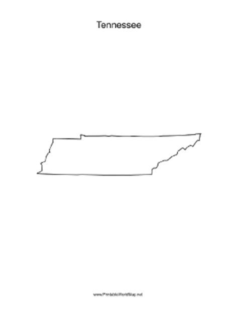 Tennessee Outline Map by Tennessee Blank Map