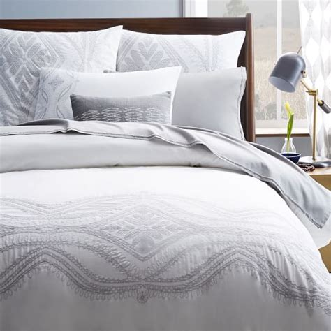 west elm bedding maroc embroidered duvet cover west elm