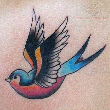 small swallow tattoos colorful small