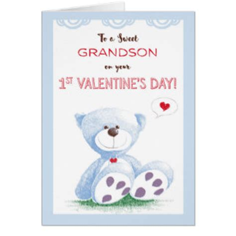 printable valentine card for grandson grandson valentine cards zazzle