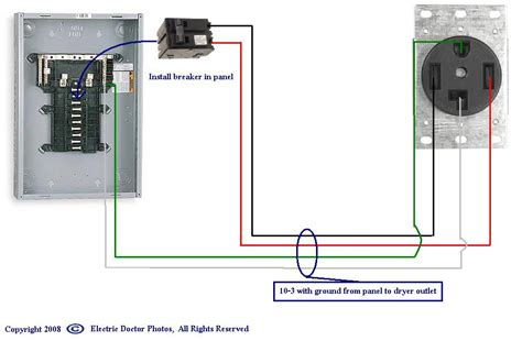 220 dryer wiring diagram
