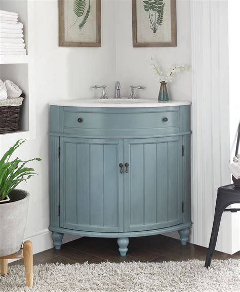 Thomasville Bathroom Vanities 24 Quot Benton Collection Light Blue Thomasville Corner Bathrrom Sink Vani The Benton Collection