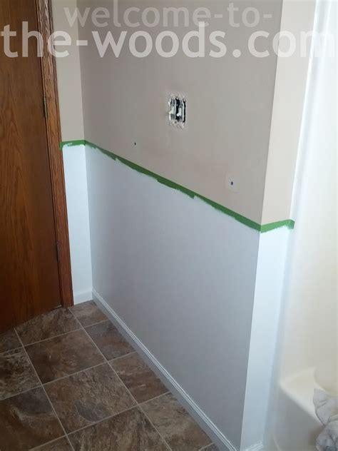 redoing bathroom walls bathroom redo create faux wainscoting welcome to the woods