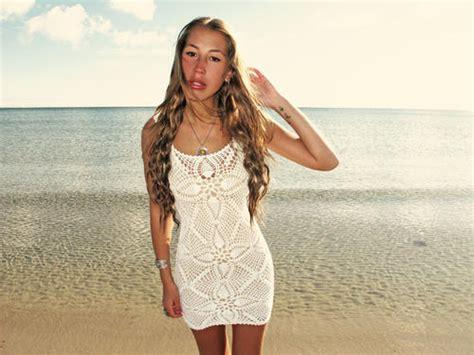 Mini Dress Pesta Handmade emmaoclothing handmade crochet mini dress white