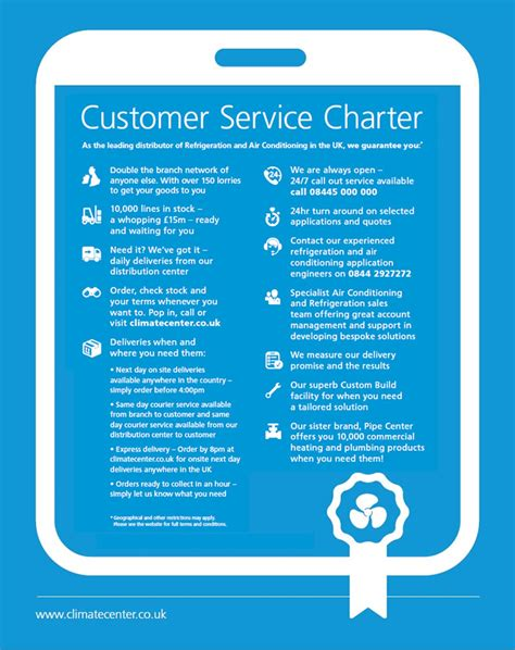 customer care charter template customer charter climatecenter