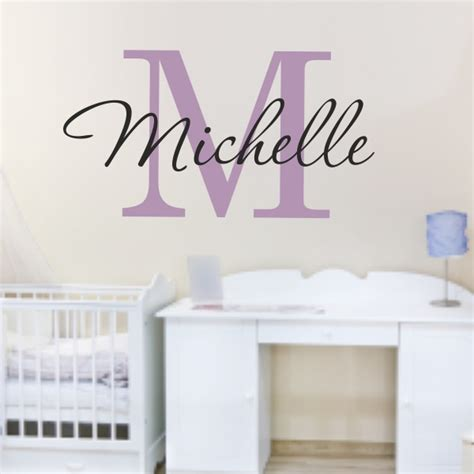 personalized name wall stickers personalized name wall decals a wall decal