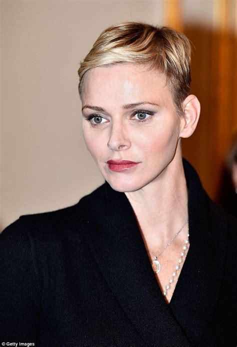 she cut her hair very short stylish princess charlene shows off her new incredibly