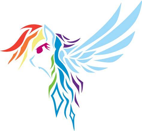 rainbow dash tattoo tribal rainbow dash by vinylbecks on deviantart