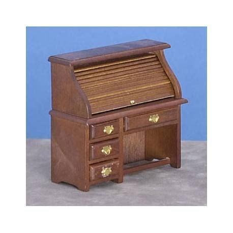 dollhouse office furniture small rolltop desk walnut dollhouse office desks