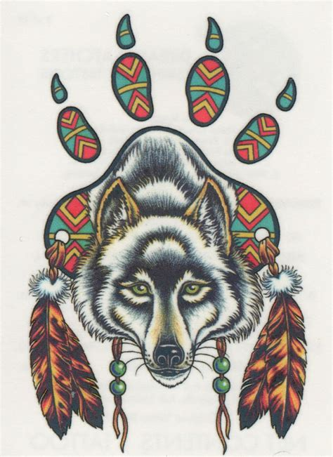 native american wolf tattoo the gallery for gt wolf paw