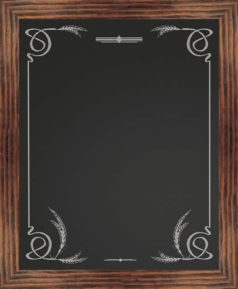 best chalk for chalkboard border chalkboard wheat rustic bulletin boards and