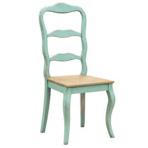 distressed turquoise dining chair by out there interiors